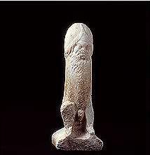 Escultura del dio Priapo, divinidad greco-romana de la fertilidad